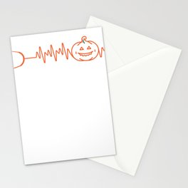 Halloween Gift for Nurses and Doctors - Pumpkin Stethoscope Heartbeat Stationery Cards