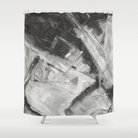 divergent Shower Curtains featuring Divergent by Ultie Arts