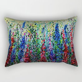 Happy Day In The Flower Fields by OLena Art Rectangular Pillow