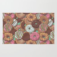 donuts Area & Throw Rugs featuring Donuts by Mario Zucca
