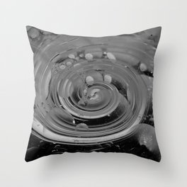bubble + twirl Throw Pillow