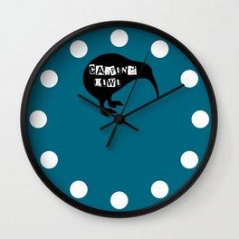 KIWI Carping Kiwi Wall Clock