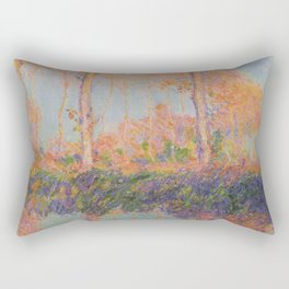 Poplars, Philadelphia by Claude Monet Rectangular Pillow