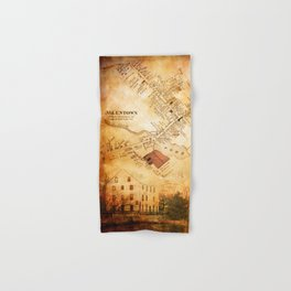Allentown, New Jersey Map and Mill by Ericka O'Rourke Hand & Bath Towel