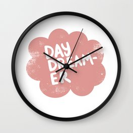 Day Dreamer in vintage pink Wall Clock