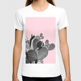 Bunny Ears Cactus on Pastel Pink #cactuslove #tropicalart T-shirt