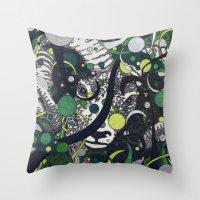 ram Throw Pillows featuring Ram by Aimee Alexander