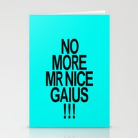 battlestar Stationery Cards featuring No More Mr. Nice Gaius! by AJnG