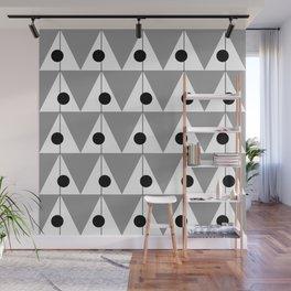 Vintage Vibes Large Geometric Pattern Grey Wall Mural