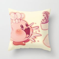 Kirby Coffee Throw Pillow