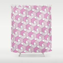 Chevrons - Pink Shower Curtain