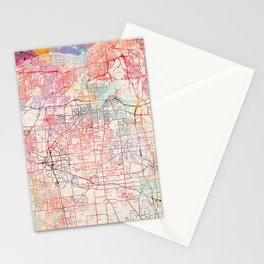 Parma map Ohio painting Stationery Cards