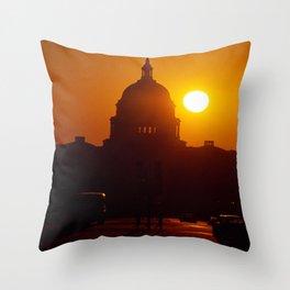 Capitol Hill Sunset Throw Pillow