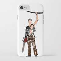 evil dead iPhone & iPod Cases featuring The Evil Dead - Bruce Campbell by Ayse Deniz