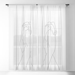 Never Let Me Go II Sheer Curtain