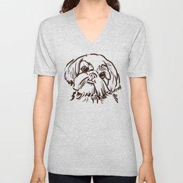 The sweet Shih Tzu dog love of my life! Unisex V-Neck