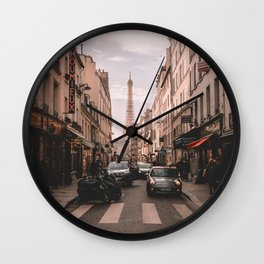 Vintage Paris, France (Color) Wall Clock