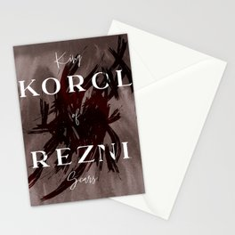 King Of Scars Stationery Cards
