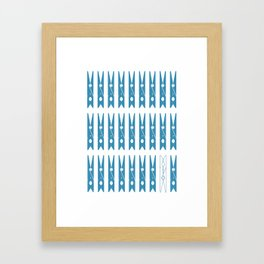 Clothespins poster Framed Art Print