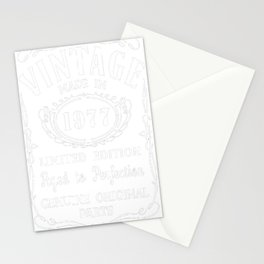 40th-Birthday-Gift-Idea-T-Shirt-Vintage-Made-In-1977 Stationery Cards