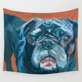 Sir Duke the Pug Portrait Wall Tapestry