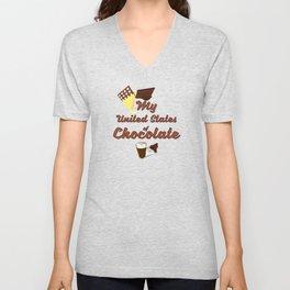 My United States of Chocolate Unisex V-Neck