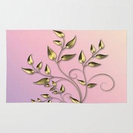 Gold flower Rug