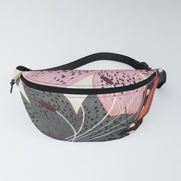 Lilies and butterflies insects Fanny Pack