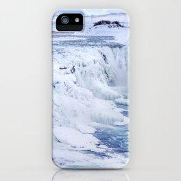ICELAND Gullfoss in winter iPhone Case