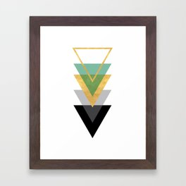 FIVE GEOMETRIC ABSTRACT HOLLOW PYRAMIDS TRIANGLE Framed Art Print