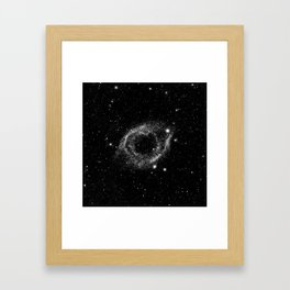 Helix Nebula Black and White Framed Art Print