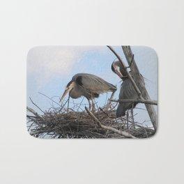 Great Blue Herons Nesting Bath Mat