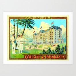 Chamonix-Mont-Blanc - Cachat's Majestic Art Print