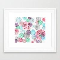 bubbles Framed Art Prints featuring Bubbles by Snehal Jain