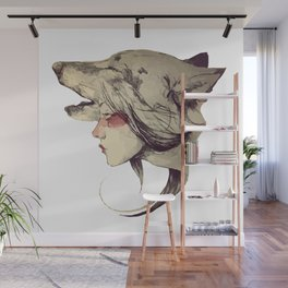 She Wolf Wall Mural
