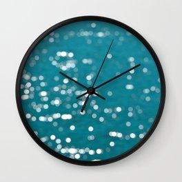 Small Ocean Bokeh Wall Clock