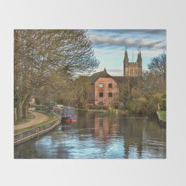 The Kennet and Avon at Newbury Throw Blanket