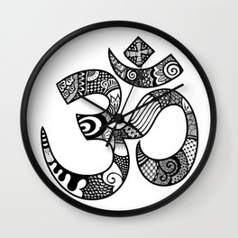 Om Tangled Wall Clock