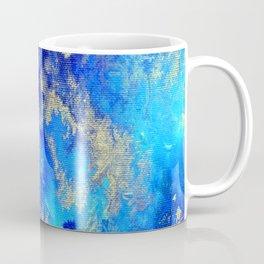 Blue & Gold Abstract d171011 Coffee Mug