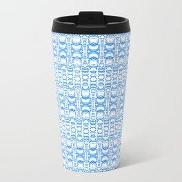 Dividers 07 in Light Blue over White Travel Mug