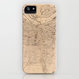 Map Of Louisville 1873 iPhone Case
