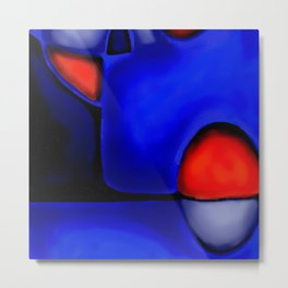 Abstraction in Lapis and Red Metal Print