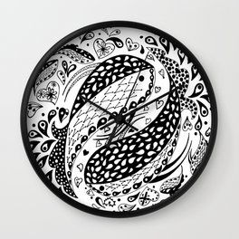 You & Me BW Wall Clock