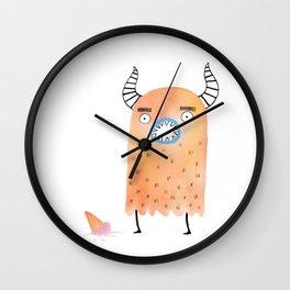 Ice Cream Dilemma Wall Clock