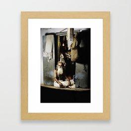 Sanbulal The Tailor Framed Art Print