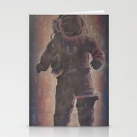 spaceman Stationery Cards featuring Spaceman by B.D. White
