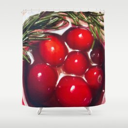 Tis the season - cranberry toast to the holiday Shower Curtain