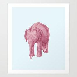 Pink elephants and the emperor of icecream Art Print