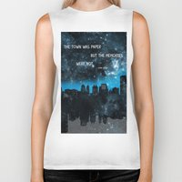 paper towns Biker Tanks featuring Paper Towns John Green  by denise