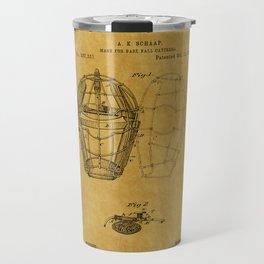 Catchers Mask Patent 1 Travel Mug